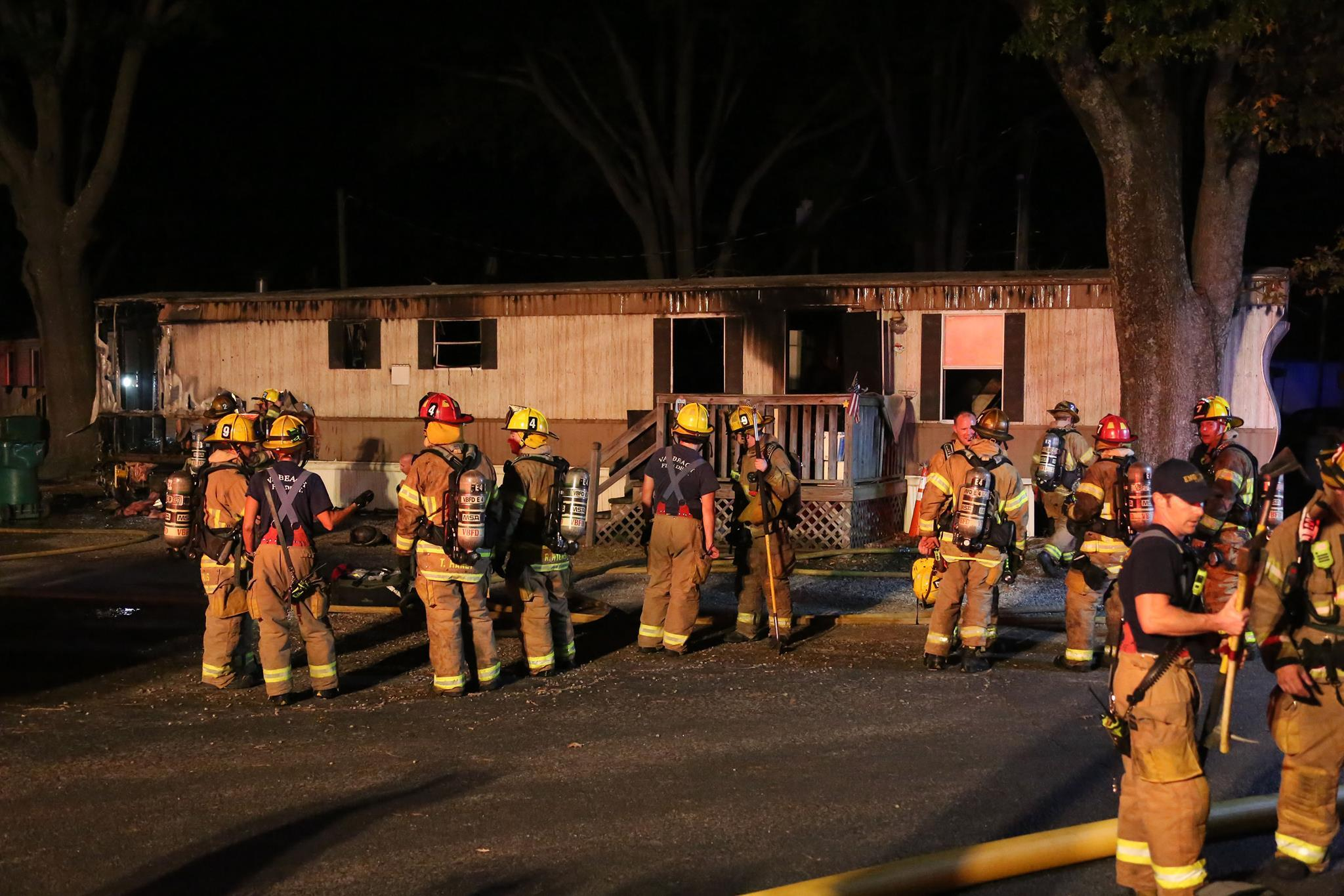 Photos: Man hospitalized after Virginia Beach mobile home fire dies