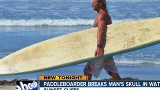 Paddleboarder breaks man's skull in water