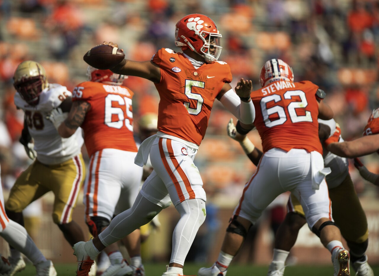 Clemson Tigers QB D.J. Uiagalelei vs Boston College Eagles in 2020