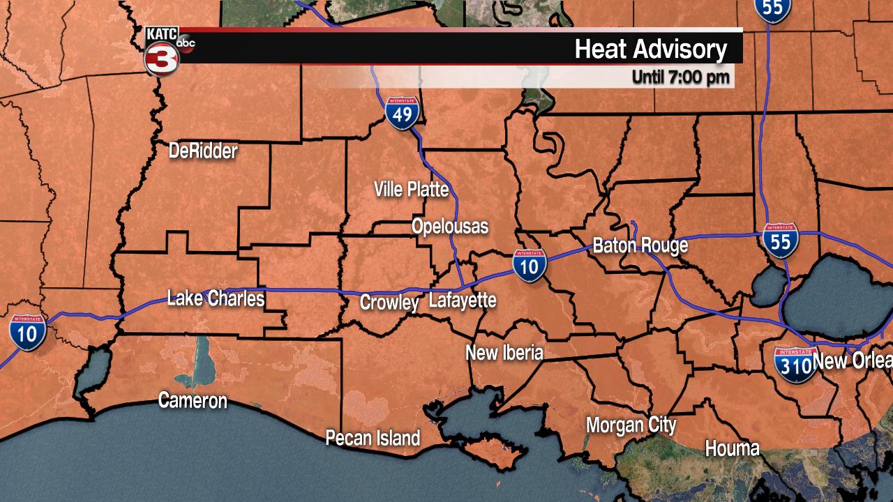 Heat Advisory rolls into the work week
