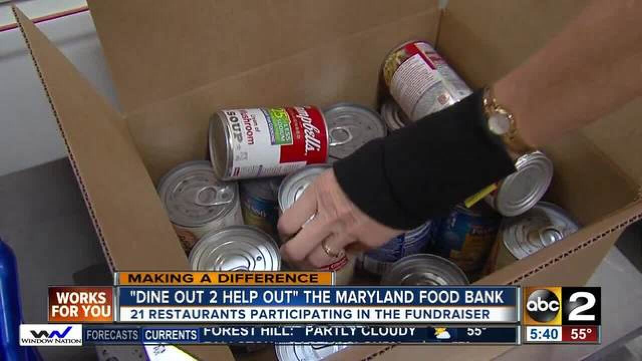 """""""Dine Out 2 Help Out"""" the Maryland Food Bank"""