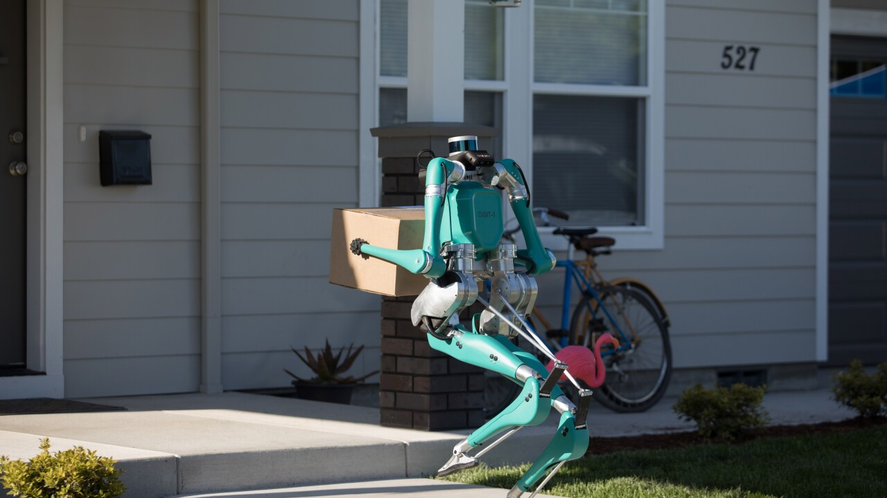 Ford is developing a robot that would carry deliveries to your front door