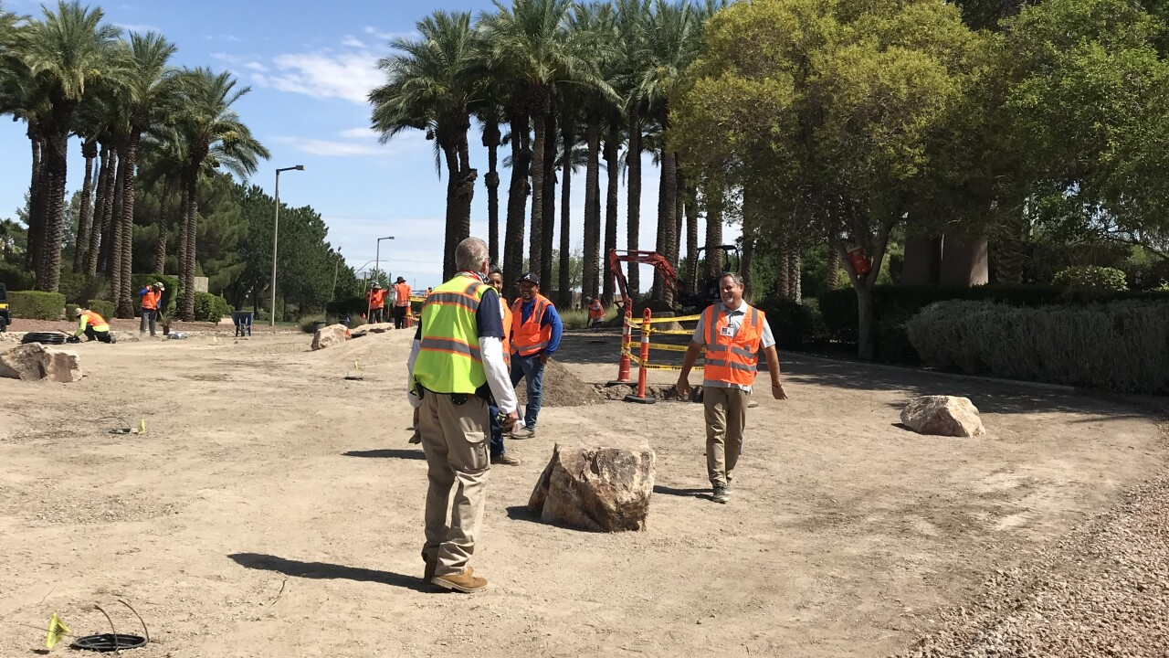 Turf removal projects in varying stages at Sun City Anthem