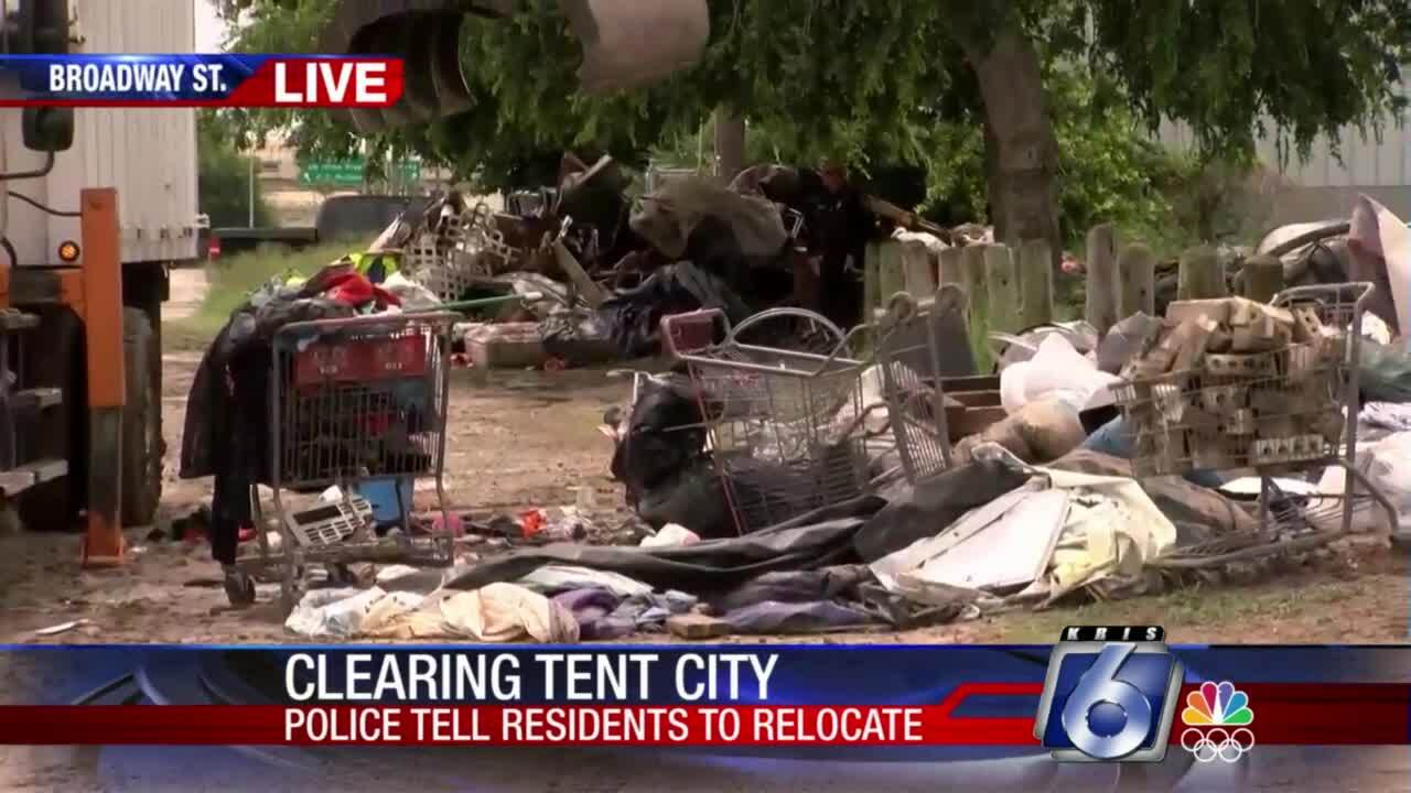 """City crews are leveling """"Tent City"""""""