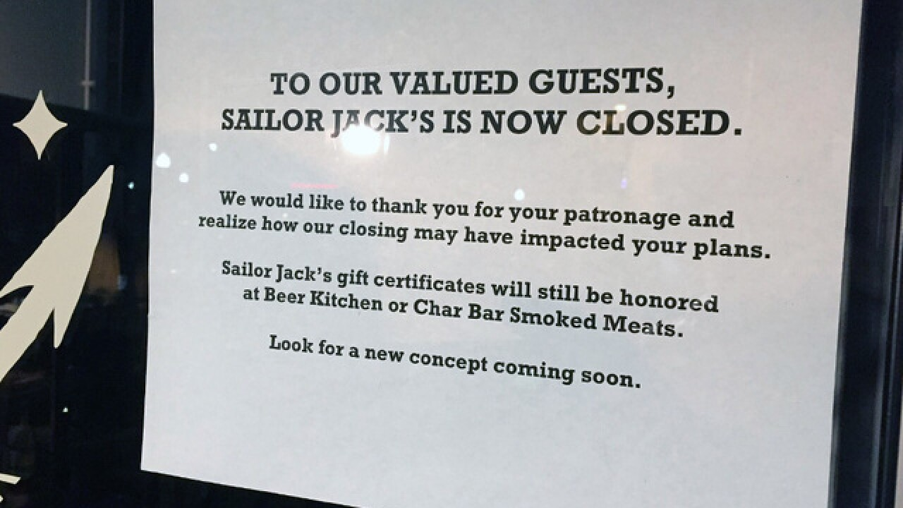 Westport's Sailor Jack's closed