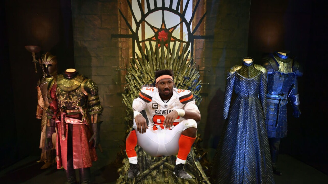 Myles Garrett on the Iron Throne