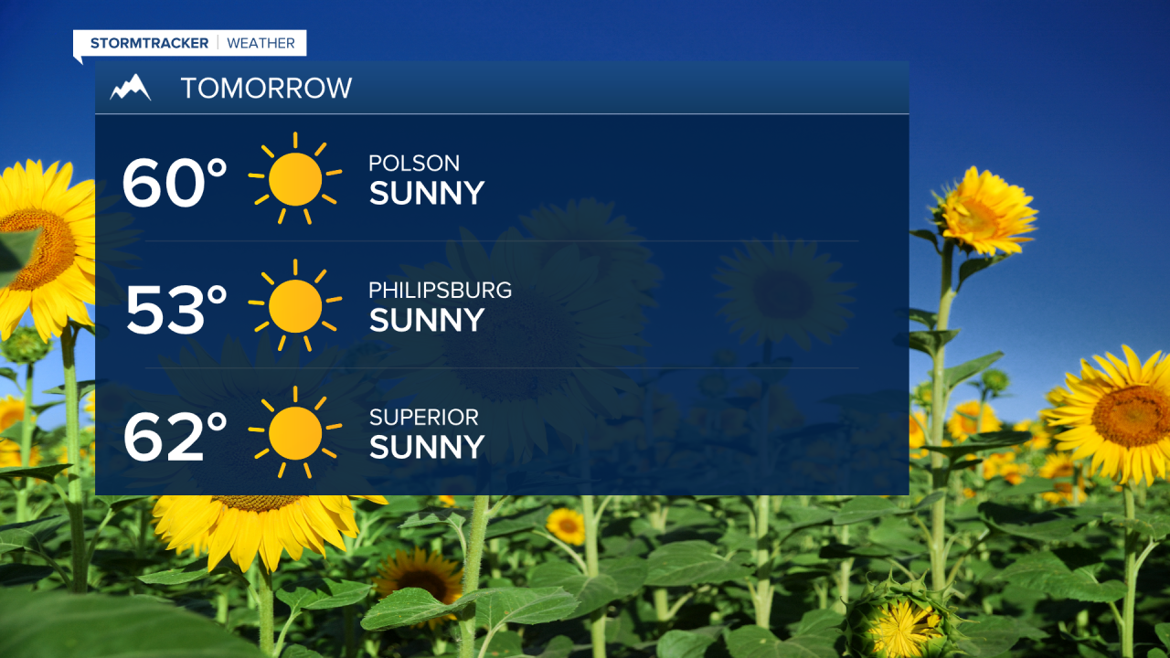 Sunshine lasts through Wednesday before rain moves in