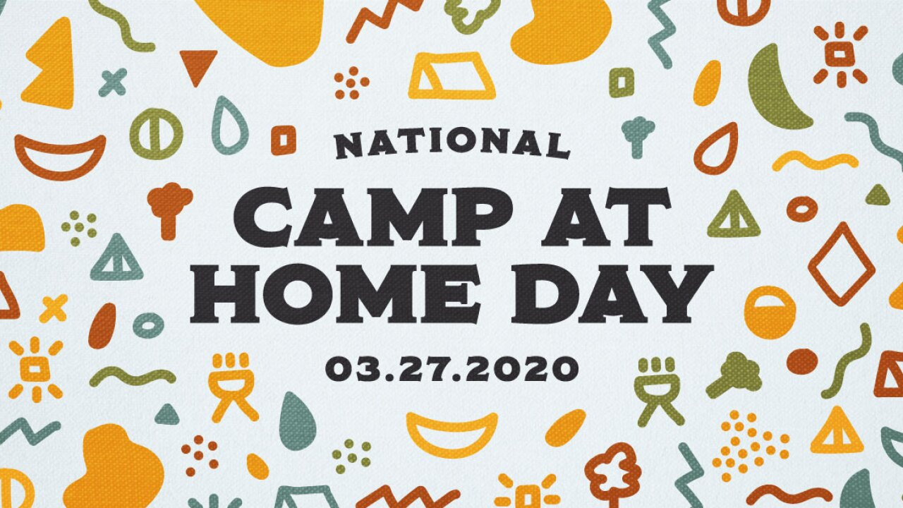 Pitch a tent at home for National Camp at Home day on Friday night
