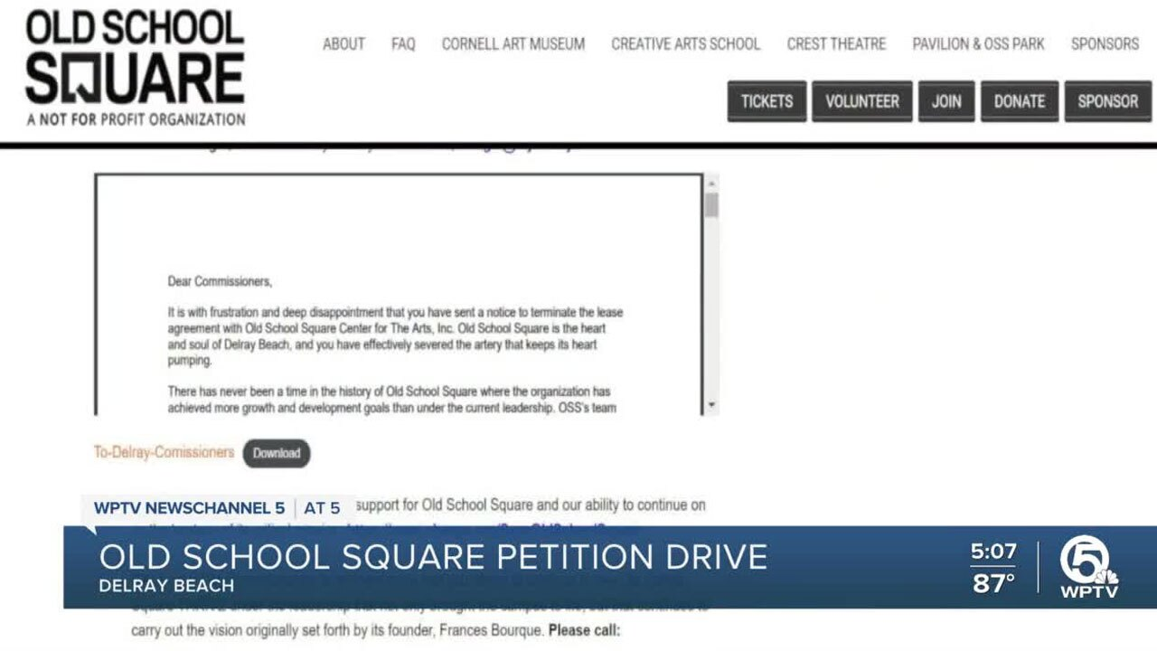 Old School Square petition