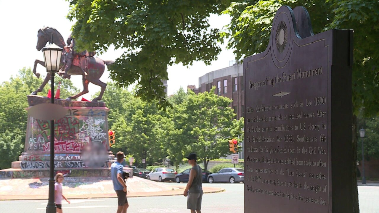Anonymous group's historical markers on Monument Avenue taken down