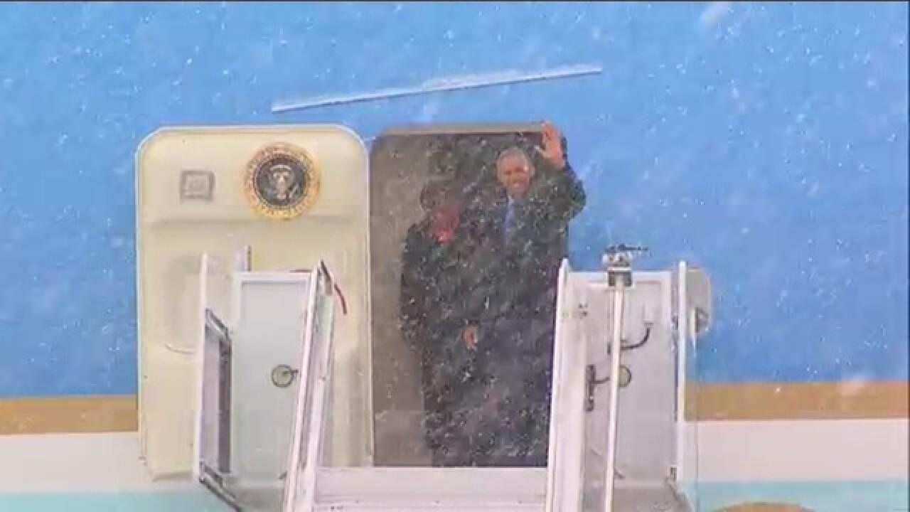 President Obama arrives in Metro Detroit