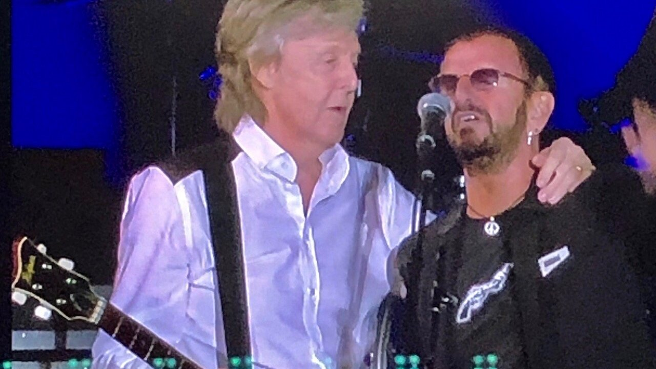 Paul McCartney and Ringo Starr reunited to perform Beatles classics at Dodger Stadium