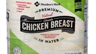 'Member's Mark' canned chicken recalled due to possible contamination of hard plastic