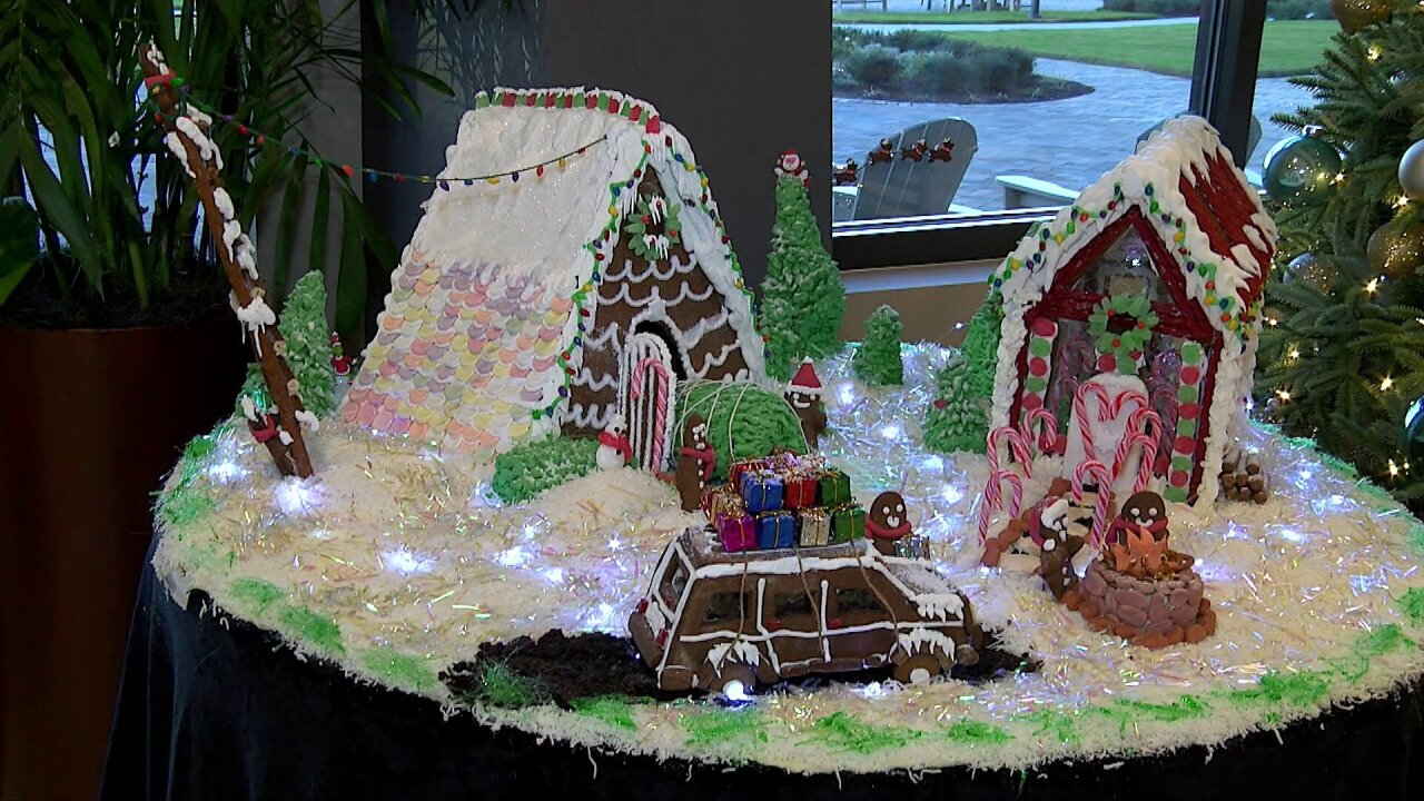 Pastry chef's gingerbread village on display at Virginia Beach retirementcommunity
