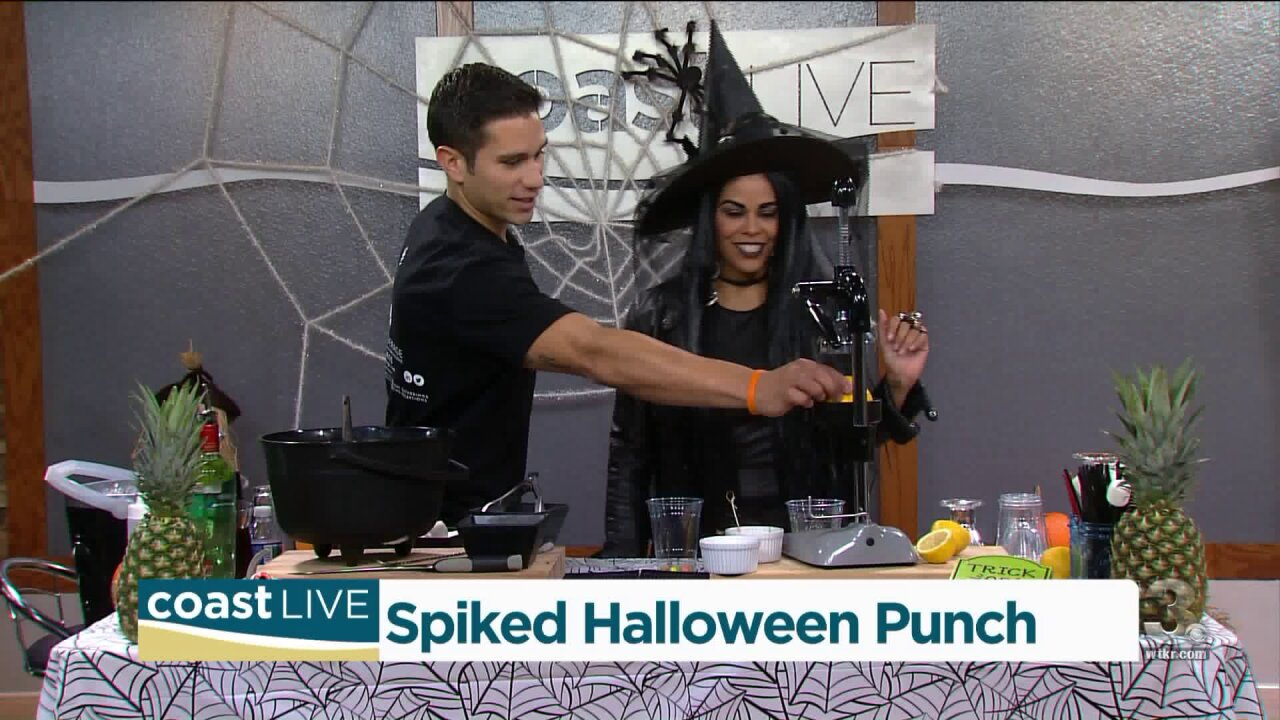 Making Spiked Halloween Punch for a little spooky adult fun on CoastLive