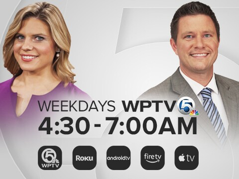 'WPTV Weekdays 4:30-7:00 AM' sidebar graphic