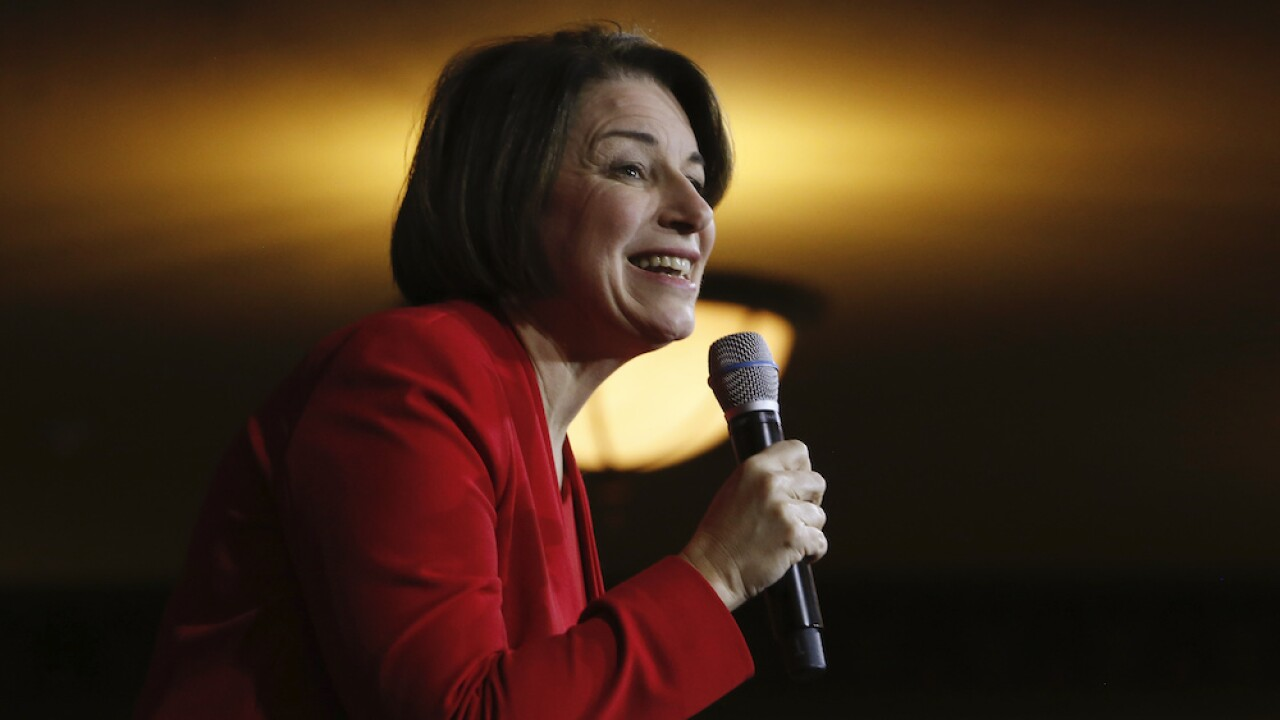 Sen. Amy Klobuchar says she will not be Joe Biden's running mate