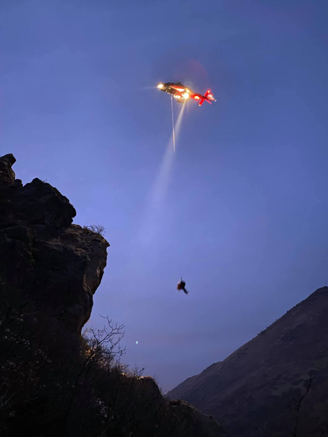 Injured hiker in Neff's Canyon