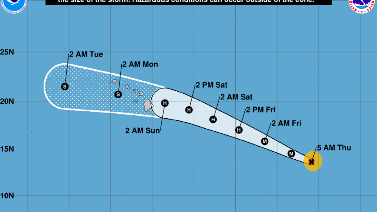 Hurricane Douglas may bring strong winds, rain to Hawaii this weekend
