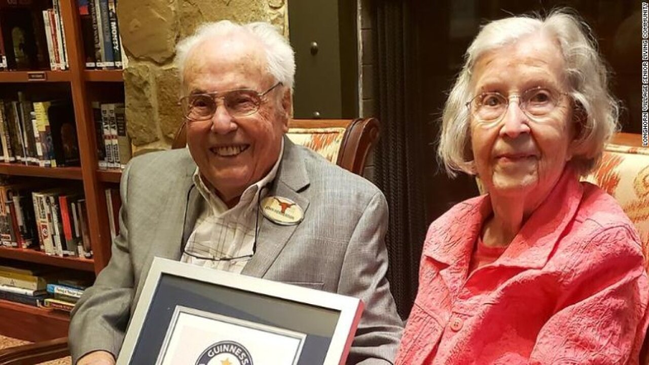 Husband and wife in Texas are officially the oldest living couple in the world