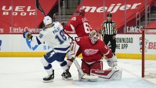 Lightning Red Wings Hockey Greiss