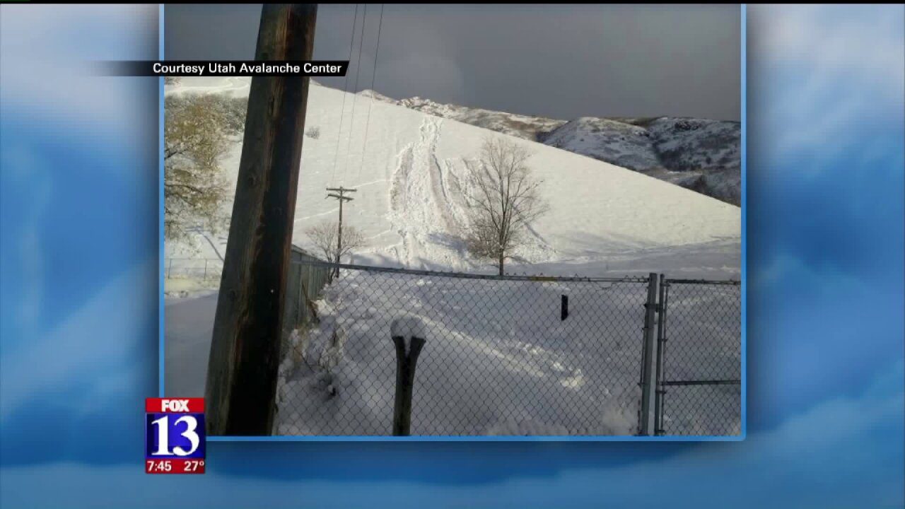 'High' avalanche danger in Utah's back country
