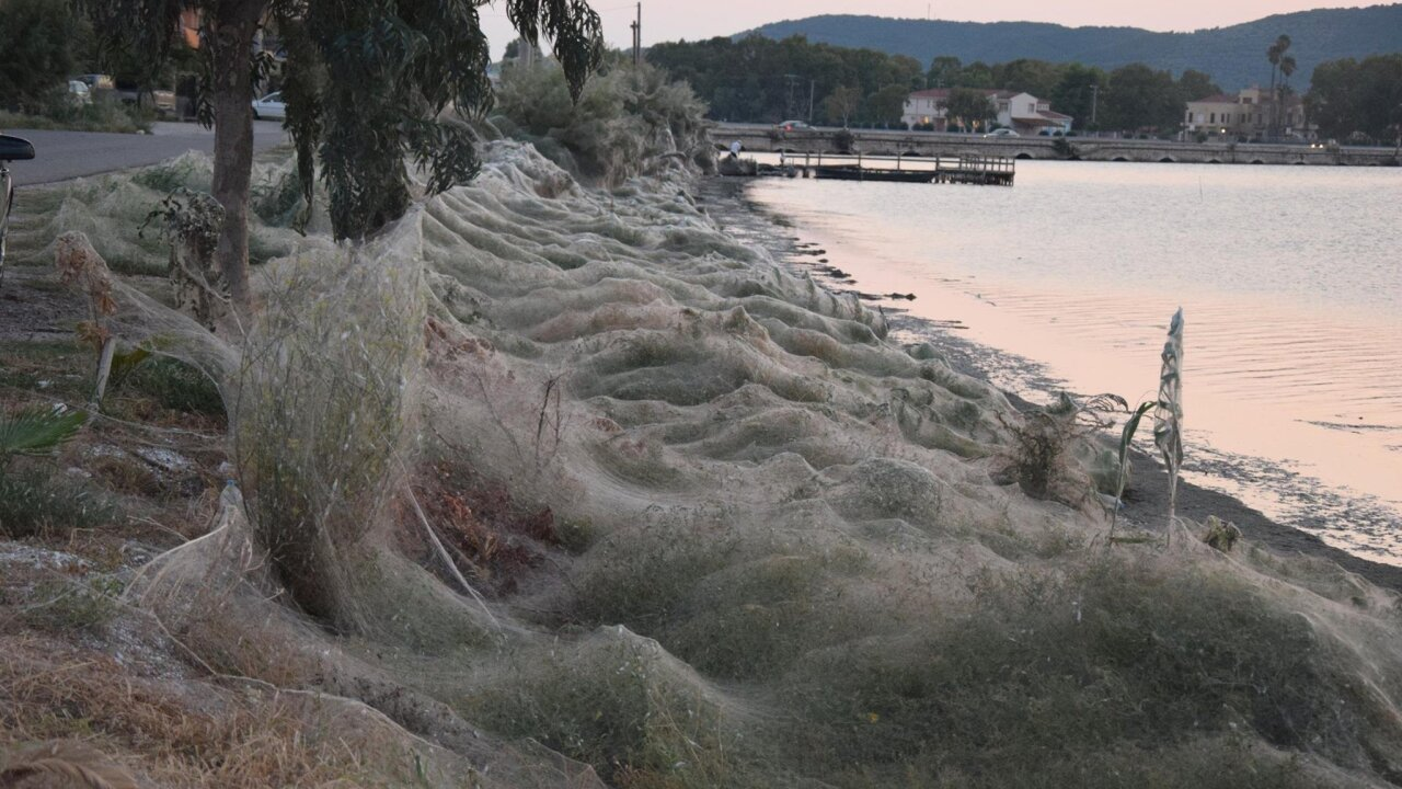 This town in Greece is draped in thousands of spider webs