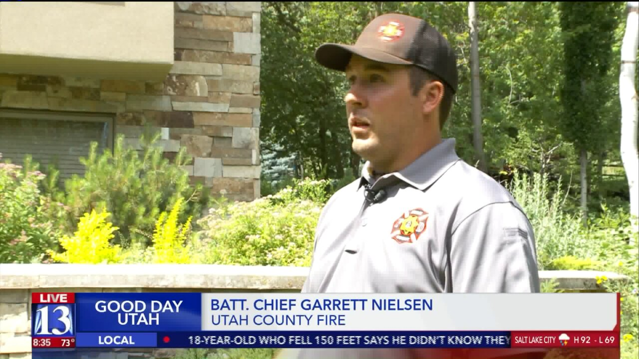 Utah firefighters show how to protect your home from wildfire