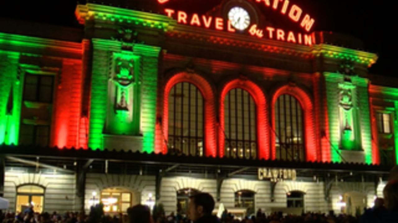 Join the Denver7 crew Friday evening for the Grand Illumination at Denver Union Station