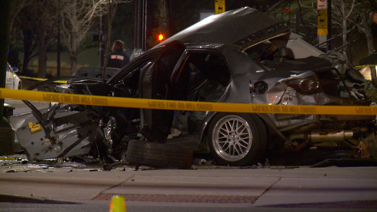 Man in critical condition after crashing into Eagle Gatemonument