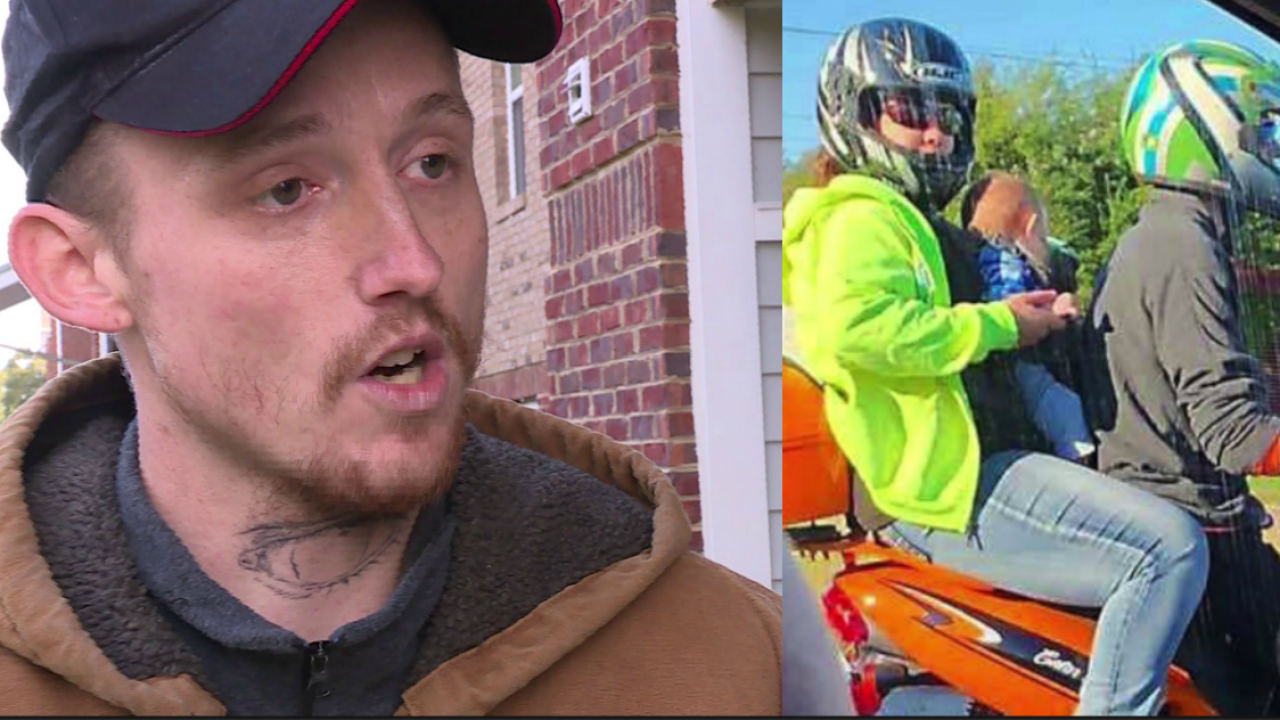 Father arrested for riding moped with wife, 5-month-old: 'We had no choice'