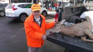 'I got a buck, I got a buck!' 104-year-old Wisconsin woman kills a buck on her first-ever hunt