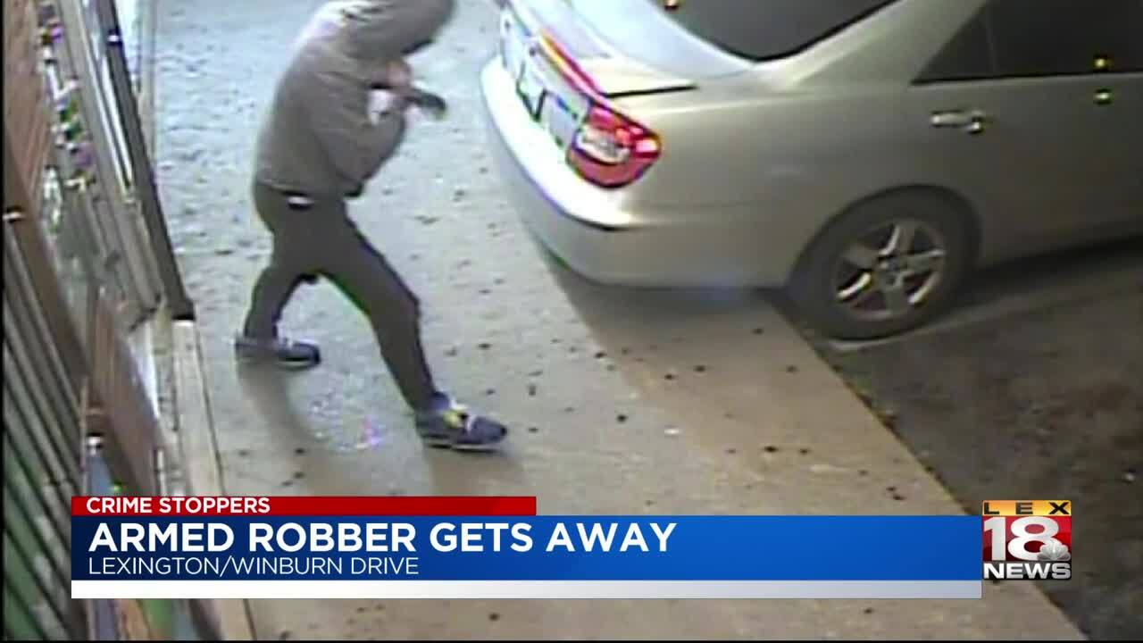 Crime Stoppers: Armed robber on the loose