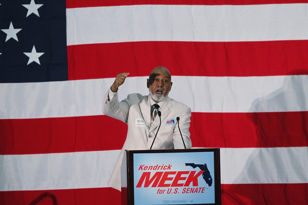 Alcee Hastings campaigns for Kendrick Meek in 2010