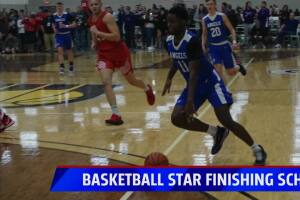 Basketball star finishes school online