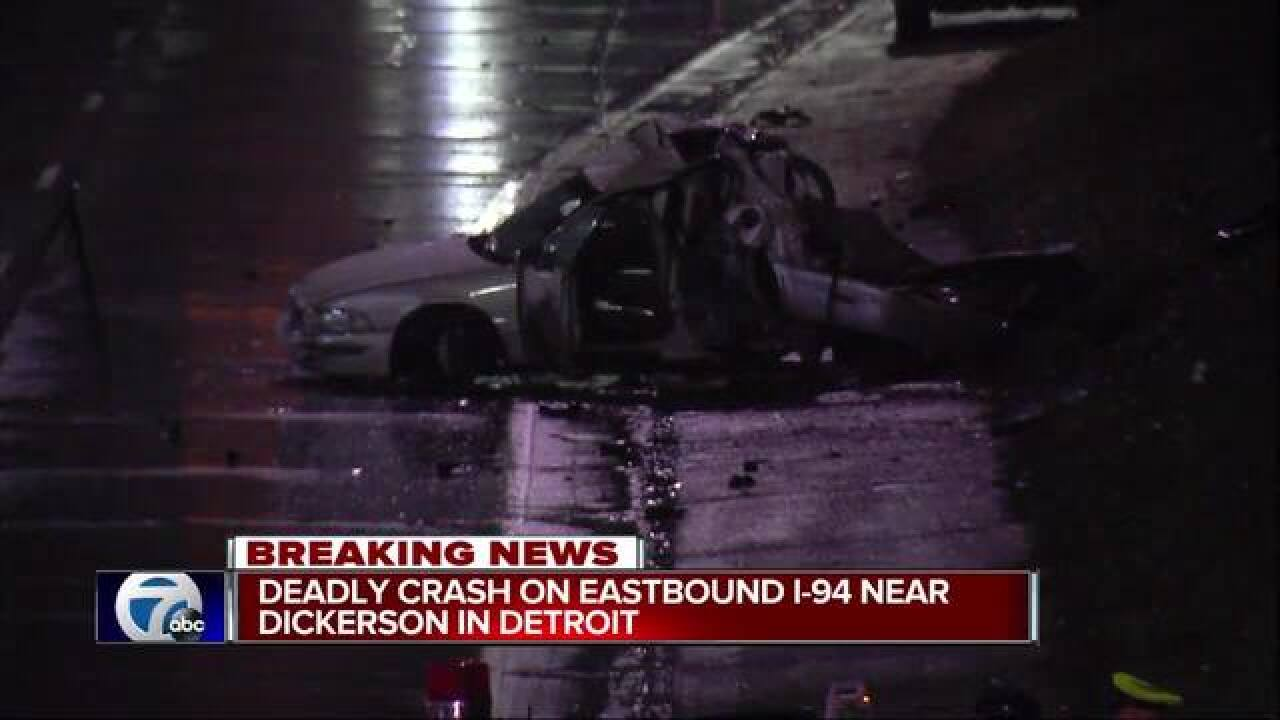 One person killed in crash overnight on Detroit's east side