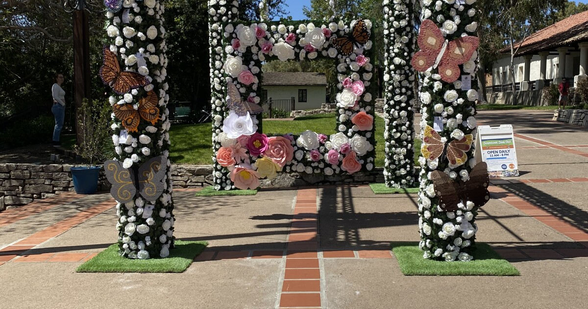 Cal Poly Rose Float Program collaborates on art installation in Downtown SLO