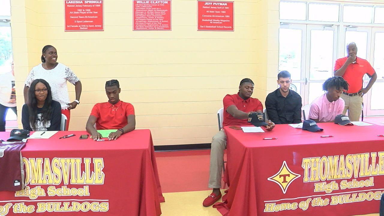Thomasville High celebrates basketball signings Thursday