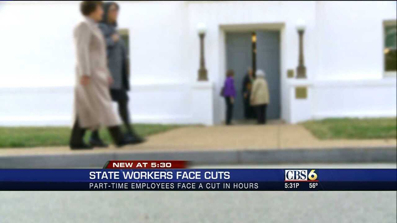 Part-time state workers see hours cut