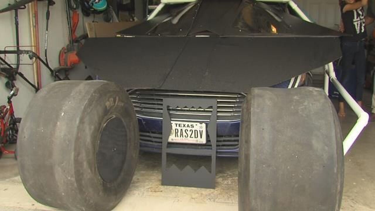 Disabled veteran builds life-size Batmobile replica