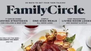 Family Circle Magazine Will Publish Its Last Issue In December