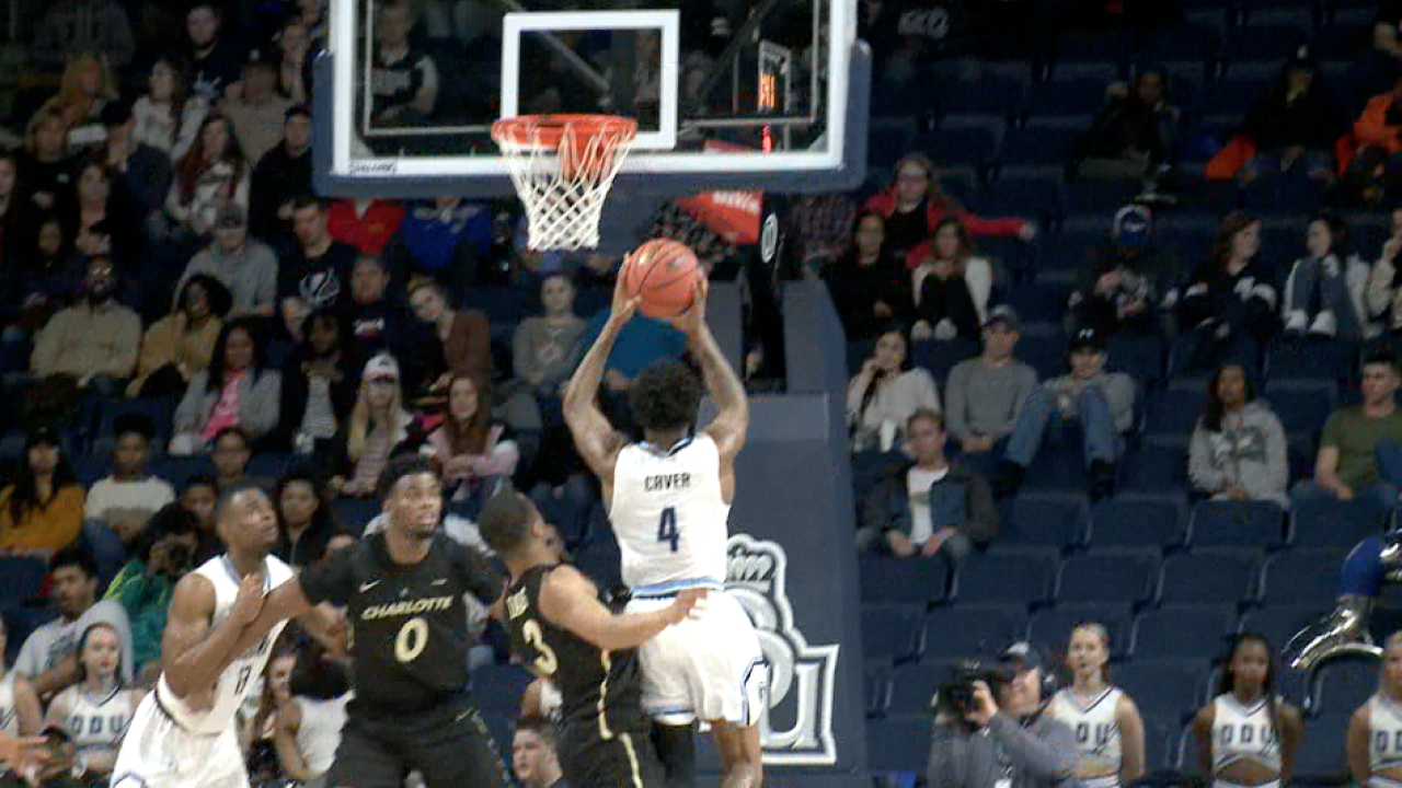 """ODU men's hoops beats Charlotte in wire-to-wire win, clinch No. 1 seed in """"BonusPlay"""""""
