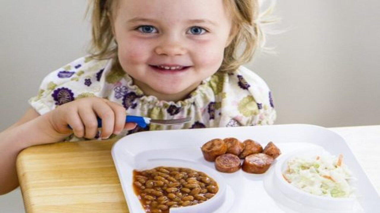 Food Cubby Keeps Food From Touching On Kids' Plates