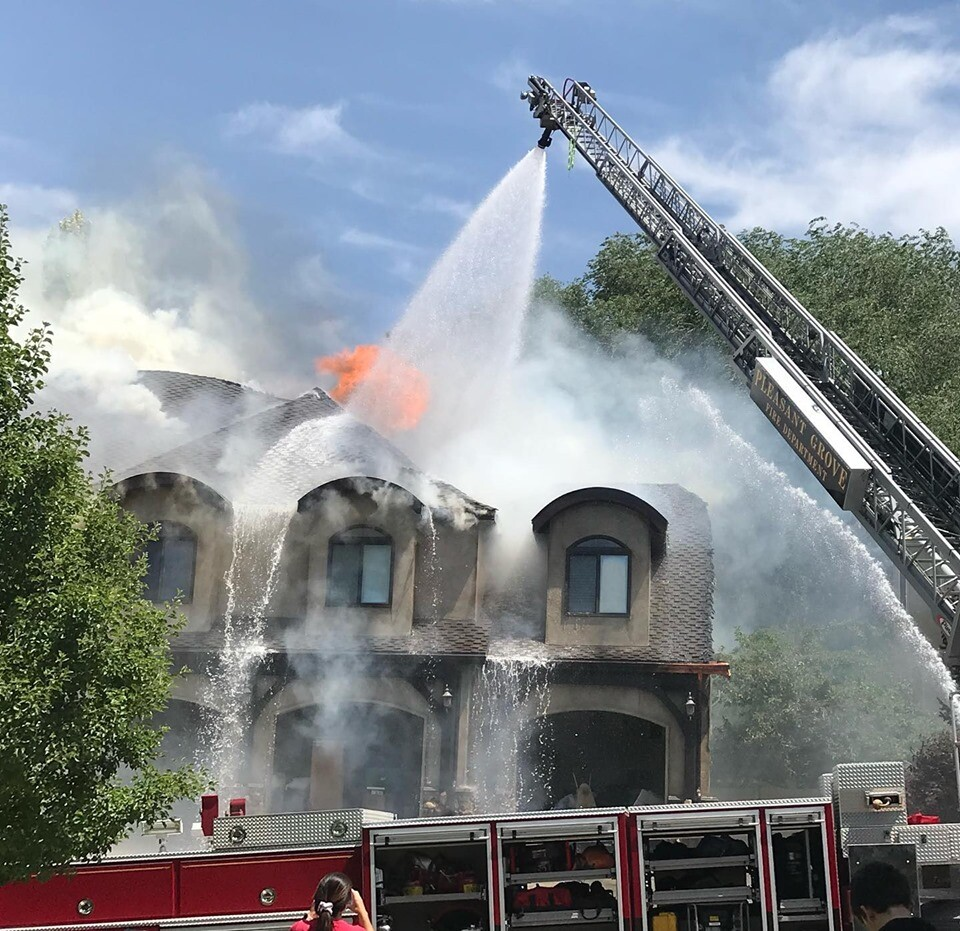 Photos: 'Fuel-fed fireball' damages home in PleasantGrove