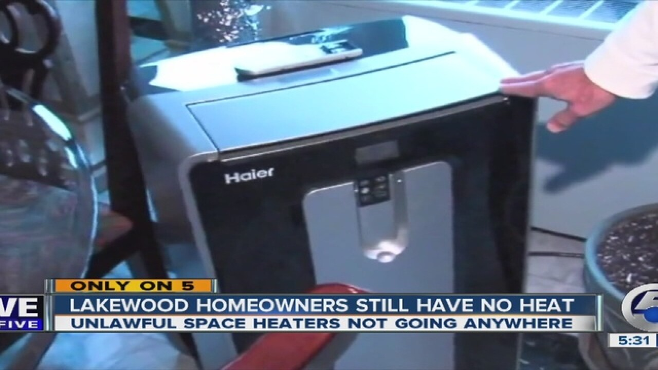 Unlawful space heaters remain at Lakewood condo