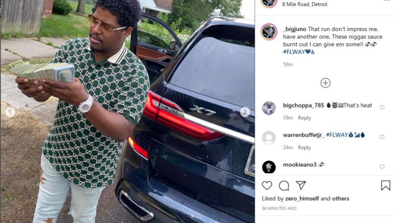 Michigan man charged with unemployment fraud showboated lavish lifestyle on social media