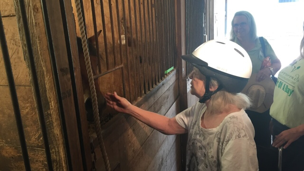 Woman battling cancer spends day at ranch