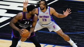Joel Embiid Pistons 76ers Basketball