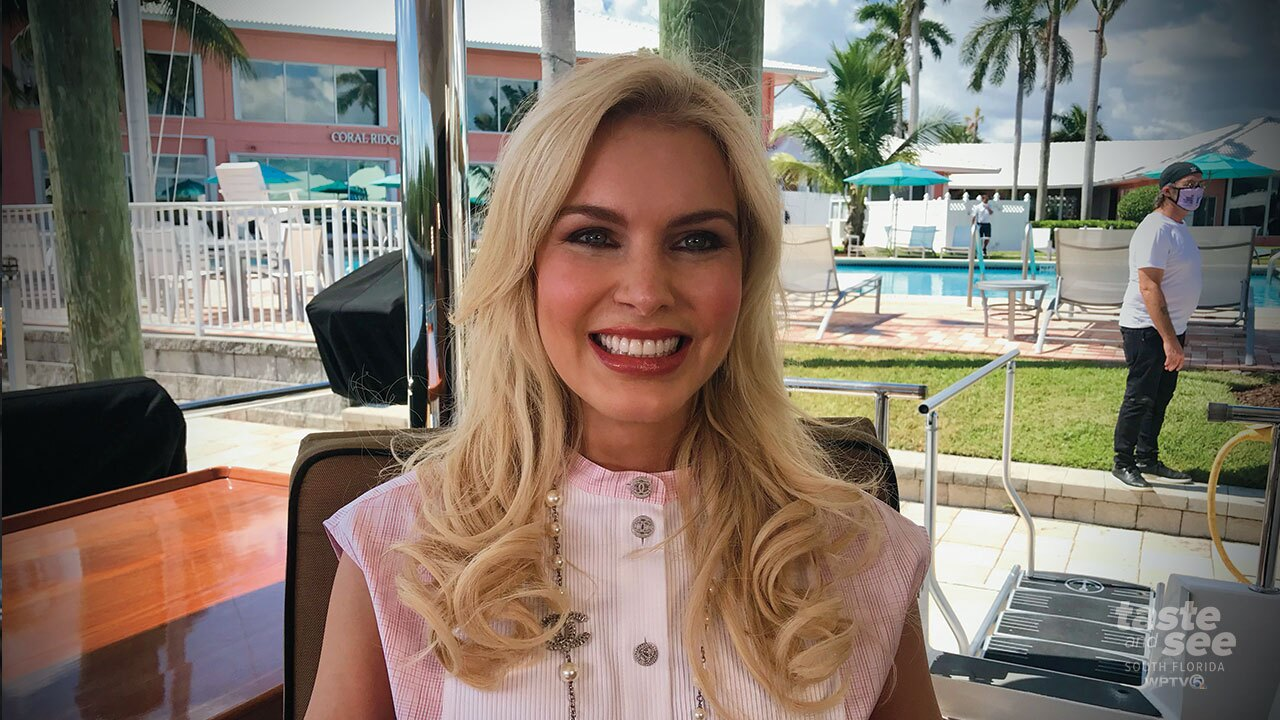"""Kate Katzman talking with WPTV NewsChannel 5's T.A. Walker about """"The Comeback Trail"""" at the Coral Yacht Club in Ft. Lauderdale.  The movie will be featured at the Ft. Lauderdale International Film Festival."""