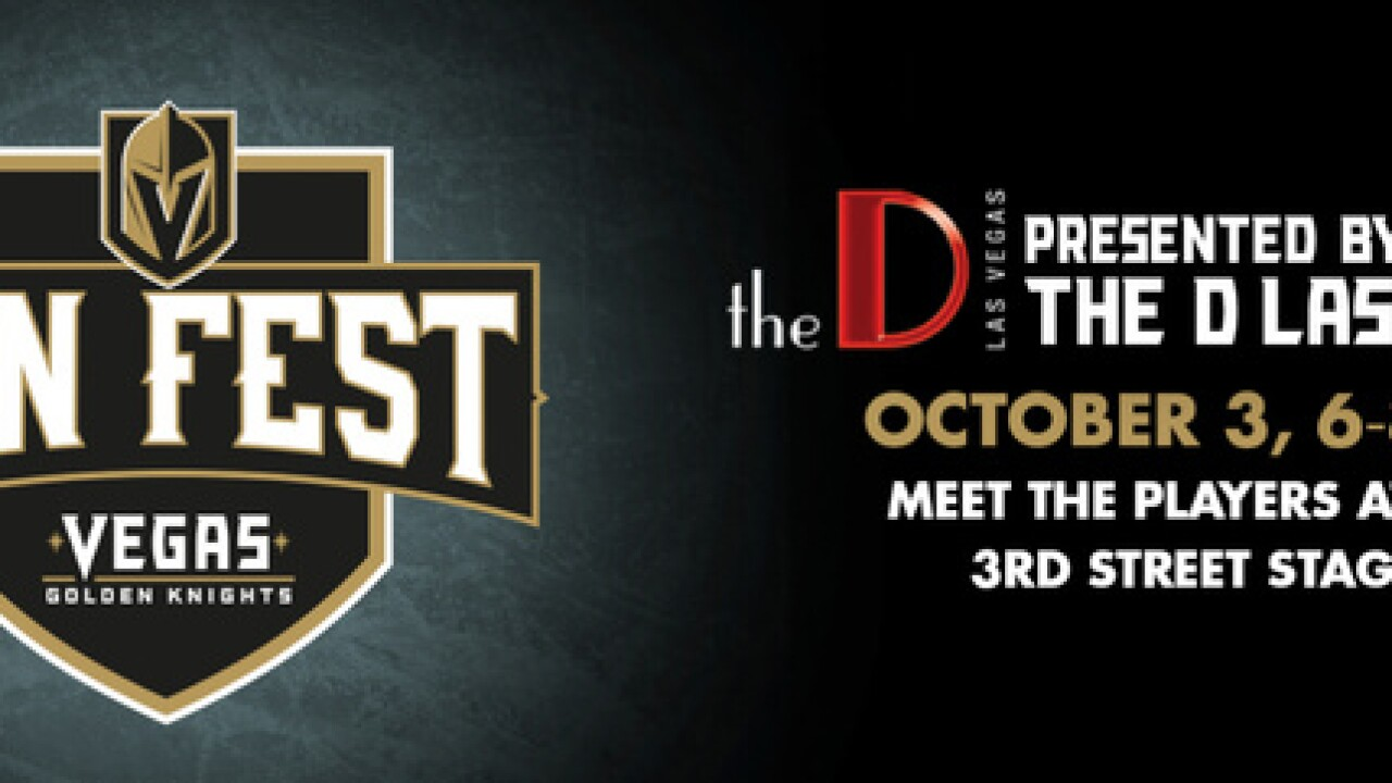 Details for first Vegas Golden Knights Fan Fest announced